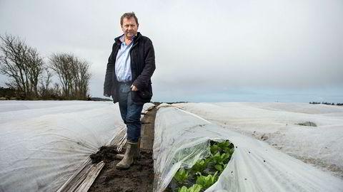 Grønnsaksbonde Einar Mikal Hanasand er en av de store vinnerne i det lille oljeselskapet Noreco som det siste året har steget over 400 prosent på Børsen.