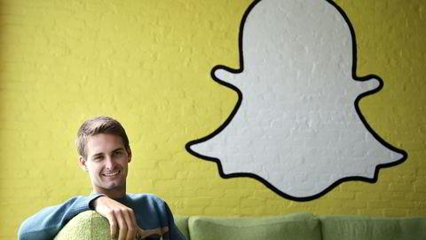 POPULÆR: Snapchat regnes som én av de ni hotteste selskapene i Los Angeles, melder Business Insider. Her er daglig leder Evan Spiegel fotografert på arbeidsplassen. Foto: