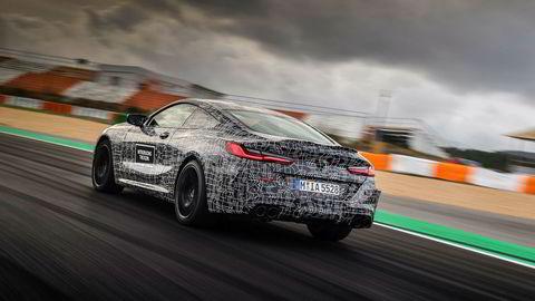 BMW M8 testes på Estoril-banen i Portugal før den skal lanseres neste år.