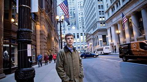 Finansmarkedene har vært preget av optimisme under Donald Trumps tid som president. I Chicago feirer Edward Boyle i Boston Options Exchange LLC (Box) børsfesten med å åpne et børsgulv av den gamle sorten.