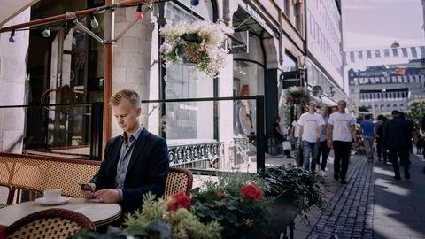 – Det er Klondyke-stemning, sier Anders Hamnes i Onflow om livet som gründer i Stockholm.                   Foto: Erik Simander / BILDBYRÅN / Cop 201
