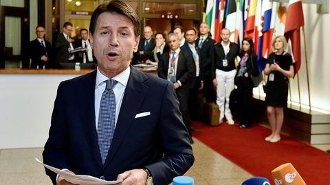 – Vi er ikke lenger alene, sa den italienske statsministeren Giuseppe Conte etter at han hadde fått med seg de andre EU-toppene på en avtale om migrasjon natt til fredag.