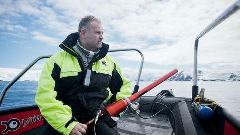 – Vi har gjort ny beregning av biomassen av krill, som er på 72 millioner tonn. Det er stort potensial, sier toktleder og forsker Bjørn Krafft ved Havforskningsinstituttet.