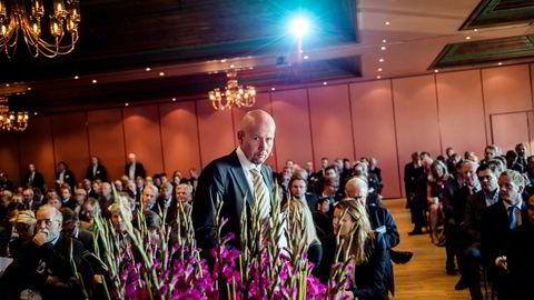 PÅ OLJE OG OFFSHOREKONFERANSE. Olje- og energiminister Tord Lien (Frp) talte til bransjen. FOTO: Fartein Rudjord