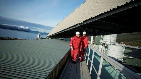 Hydro lanserer nå to serier med grønnere aluminium, hvor målet er å sikre at produkter som er mer bærekraftige skal merkes. Her fra Hydro Husnes i Kvinnherad.