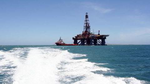 Den nedsenkbare boreriggen Songa Mercur til havs. Foto: Songa Offshore/Pressebilde