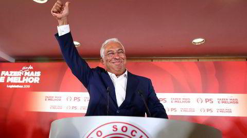 Sosialistpartiet (PS) og statsminister António Costa ble valgvinneren i Portugal.