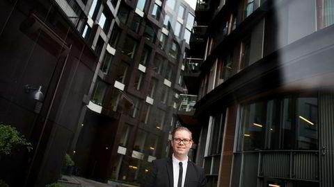 Seniorøkonom Marius Gonsholt Hov i Handelsbanken mener man ikke må stirre seg blinde på de sterke tallene fra norsk industri.