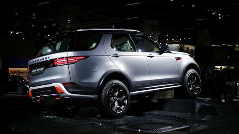 Discovery SVX ruver på Land Rovers stand i Frankfurt. Tre nordmenn skal allerede ha kjøpt bilen.