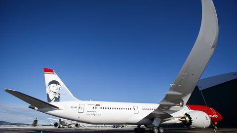 Her er en av Norweginas nyeste Dreamliner-fly. Foto: Heiko Junge /