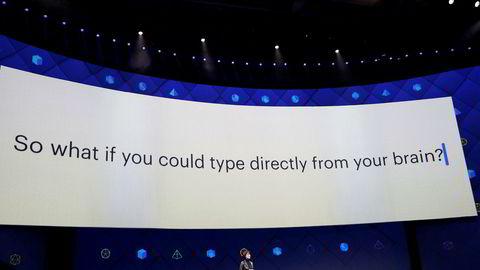 Visepresident Regina Dugan avslørte Facebooks ferskeste innovasjonsprosjekter under F8-konferansen i San Jose onsdag.