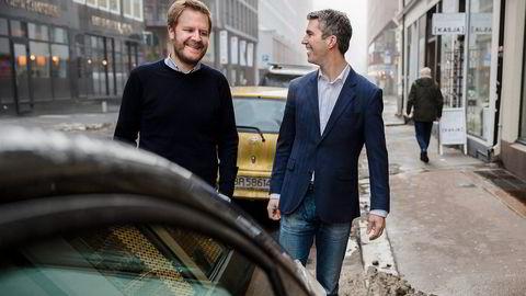 Daglig leder Even Heggernes og styreleder Jacob Tveraabak i delingstjenesten Nabobil er en av to parter som nå begge hevder de har retten på varemerket Nabobåt. Foto: Per Thrana