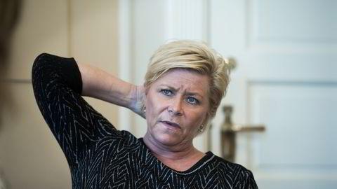Flertallet på Stortinget er enige på 17 punkter av finansminister Siv Jensens skattereformforslag. Foto: Per Ståle Bugjerde