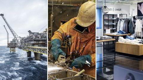 NEDTUR. Norsk økonomi rammes av oljeprisfall. FOTO: Fra venstre, Kristian Helgesen, Alf Ove Hansen, Skjalg Bøhmer Vold