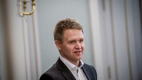Salmar-sjef Olav-Andreas Ervik er fornøyd med at selskapet han leder har steget over 100 prosent på Oslo Børs i år.