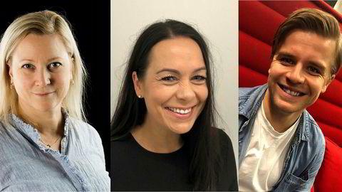 Til Dagbladet TV. Gøril Karlsen Thu (f.v.), Tanja Wibe-Lund og Jonas Scheie Hammer.