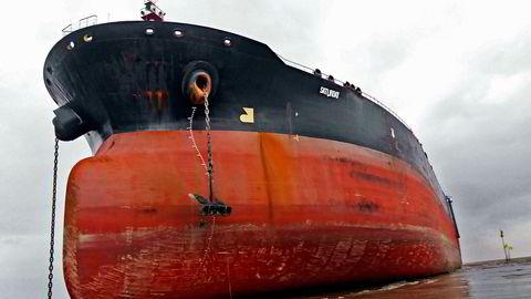 Norske skip hugges opp under tvilsomme forhold for arbeiderne. Her det norske skipet Nordic Saturn som ble omdøpt til Saturday rett før opphugging tidligere i år.