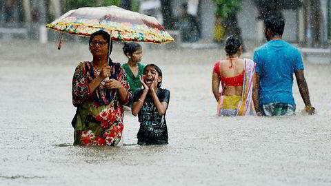 Mye regn har gitt flom i India.