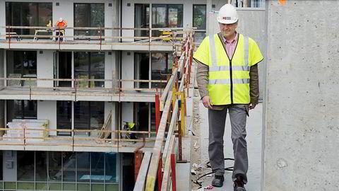 Jan Hestås, konsernsjef i entreprenørkonsernet Kruse Smith, ser ingen tegn til boligboble. Foto: Anders Martinsen
