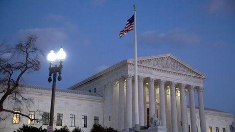 Høyesterettsbygningen i Washington D.C. i USA. Foto: Drew Angerer/Getty Images/AFP/NTB SCANPIX