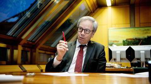 Sentralbanksjef Øystein Olsen i Norges Bank. Denne uken holder fem sentralbanker rentemøte. Foto: Mikaela Berg