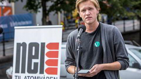 Sondre Hansmark Persen, leder i Unge Venstre