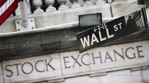 Børsen New York Stock Exchange på Wall Street i New York. Foto: Mark Lennihan / AP  / NTB SCANPIX