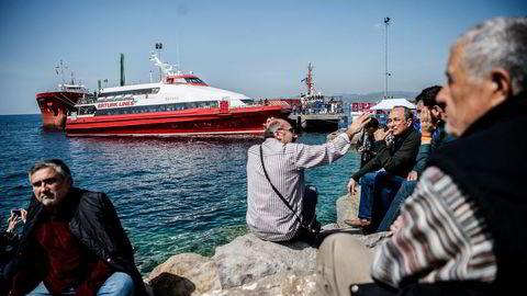 Mandag ble de første gruppene med migranter returnert med båt fra Hellas hit til Tyrkia. Foto: Ozan Kose/AFP/NTB Scanpix