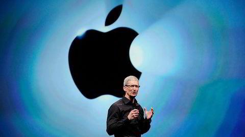 Tim Cook ventes å presentere en ny Iphone med lommebok-funksjoner tirsdag. Apple kommer sent til et marked ingen har fått til, men følges med spenning, fordi de er Apple.  Foto: Noah Berger og David Paul Morris,