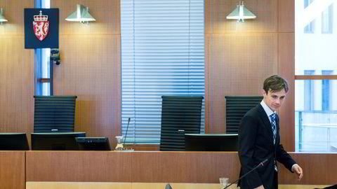 Påtaleansvarlig, førstestatsadvokat Håvard Kampen i retten.