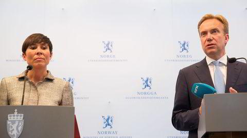 Ine Eriksen Søreide (H) og Børge Brende (H). Foto: Berit Roald /