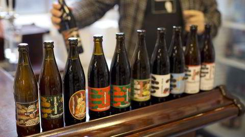 Et utvalg øl fra Haandbryggeriet som nå vil inngå i det nyfusjonerte Norbrew. Foto: