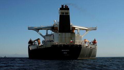 Oljetankeren «Adrian Darya 1» er frigitt tross protester fra USA.
