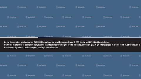 Økokrim har beslaglagt domenet popcorn-time.no. Slik ser nettsidene ut nå. Foto: Faksimile