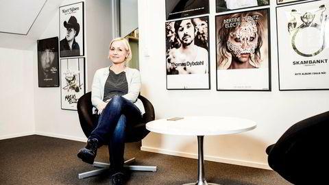 Administrerende direktør Lena Midtveit i Sony Music Entertainment hadde 4,5 prosent fall i digitalinntektene i første kvartal.