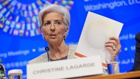 IMF-sjef Christine Lagarde vil at eurolandene sørger for at avtalene med Hellas er basert på realistiske forutsetninger. Foto: Mandel Ngan/AFP/NTB Scanpix