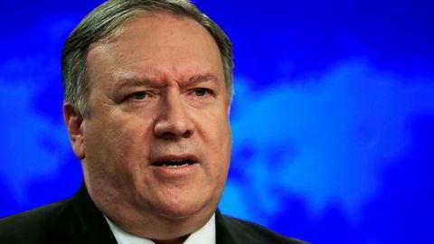 USAs utenriksminister Mike Pompeo med krass karakteristikk av regimet i Iran.