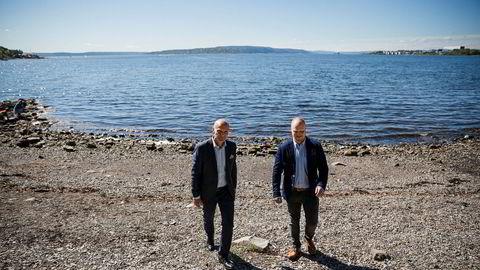Morten Thorsrud (til venstre), Ifs konserndirektør for privatmarkedet i Norden og forsikringsrådgiver Sindre Ryan kaller endringsprosessen en suksess.