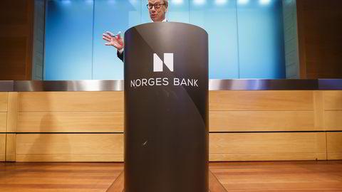 Sentralbanksjef Øystein Olsen i Norges Bank. Foto: Heiko Junge /
