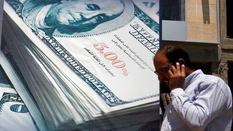 Dollaren er svekket etter at det har kommet inn svake amerikanske nøkkeltall. Foto: REUTERS/Amr Abdallah Dalsh