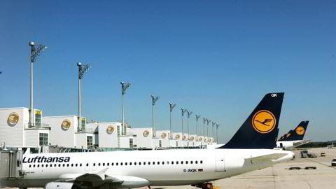 Lufthansa fly parkert på Munchen Flyplass. Illustrasjonsfoto: Gunnar Bløndal
