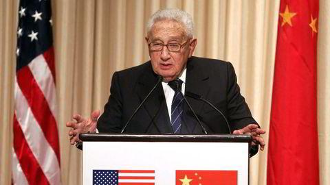 Den tidligere amerikanske utenriksministeren Henry Kissinger (93). (AP Photo/Jason DeCrow)