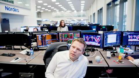 Sjefstrateg Leif-Rune Rein i Nordea Wealth Management synes frykten ser ut til å avta i aksjemarkedet.