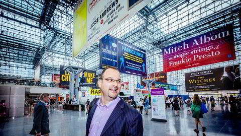 Jonathan Stolper er sjef for markedsanalyseselskapet Nielsen Book.Han mener e-boksalget har nådd metningspunktet – for nå. Foto: Johannes Worsøe Berg