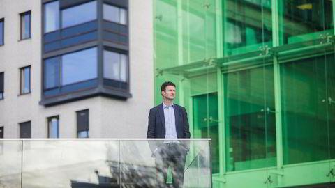 PGS-sjef Rune Olav Pedersen, her foran selskapets hovedkontor på Lilleaker, Oslo.