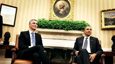 Natos generalsekretær Jens Stoltenberg skal møte president Barack Obama i Det hvite hus i april. Bildet er fra et besøk i 2011 da Stoltenberg var statsminister i Norge. Foto: Linus Sundahl-Djerf