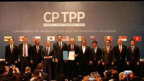 Handelsministerene i Stillehavsregionen møtes i helgen i Santiago i Chile, uten USA etter at Donald Trump trakk landet fra avtalen.