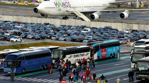 Det må påregnes store problemer her ved Brussels Airport Zaventem under streiken tirsdag og onsdag.