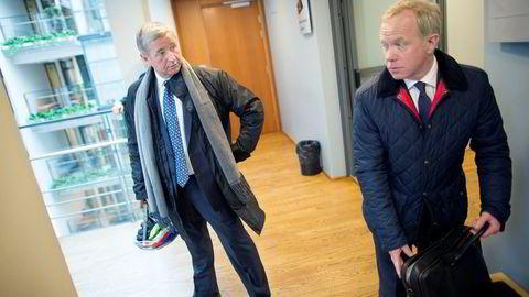 Christen Sveaas eier investeringsselskapet Kistefos. Selskapet ledes av Bengt A. Rem (til høyre), som i fjor fikk en bonus på 20 millioner kroner etter rekordresultat for Kistefos.