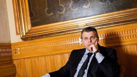 Første dag på Stortinget som justisminister for Jøran Kallmyr.